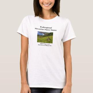 Damen-T - Shirt/gefährdete hawaiische Nene Gänse T-Shirt