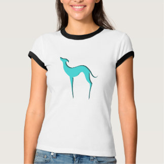 Damen-T - Shirts Silhouette des Windhunds/Whippet