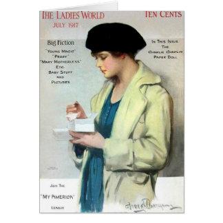 Damen-Welt, im Juli 1917 Grußkarte