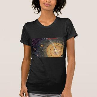Damen zierliche T, hohe Grenzbesiedlung T-Shirt