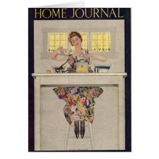 Damen-Zuhause-Zeitschrift 1920 Grußkarte