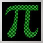 Damier de pixel de pi affiches