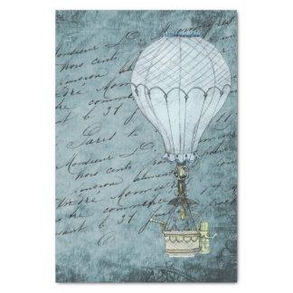 Dämmerungs-blaue Heißluft-Ballon Steampunk Seidenpapier