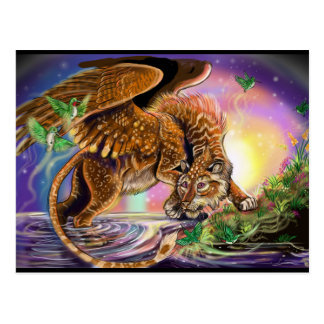 Dämmerungs-Jäger-Fliegen-Katze Postkarte