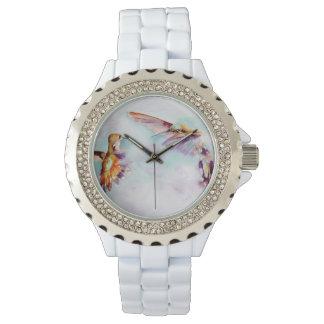 Dämmerungs-Tänzer-Kolibri-Druck Uhr