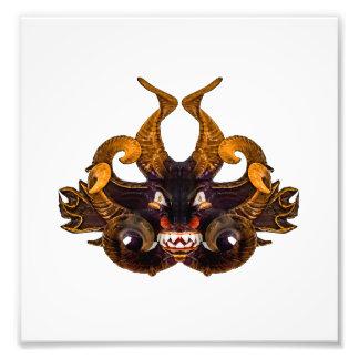 Dämon-Stammes- Maske Fotodrucke