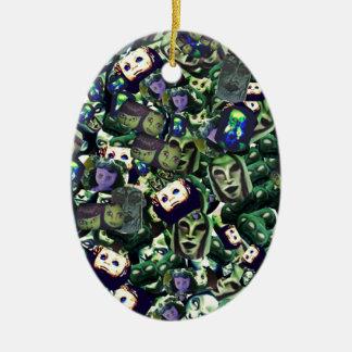 Dämonen und Puppen, ursprünglicher Entwurf der Keramik Ornament