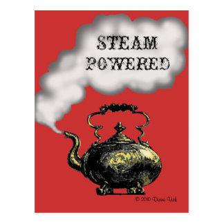 Dampf angetriebene Postkarte