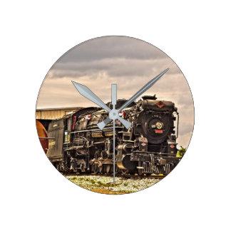 Dampf-Lokomotive 610 Runde Wanduhr