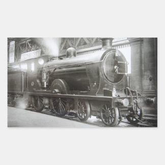 Dampf-Lokomotive (Dame von Avenal) Rechteckiger Aufkleber