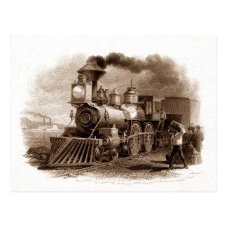 Dampf-Motor-Postkarte Postkarte