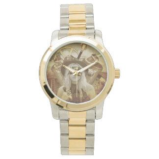 Dampf-Punkmädchen-Armbanduhr Armbanduhr