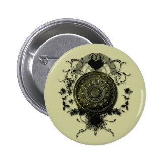 Dampf-Punkzahn-Entwurf Runder Button 5,7 Cm