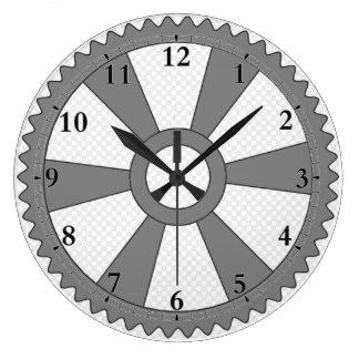 Dampf-Uhr Große Wanduhr