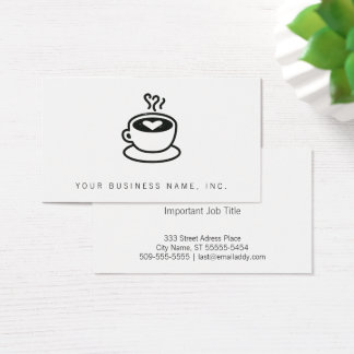 Dämpfende Kaffeetasse mit Herz-Entwurf (getragene Visitenkarte