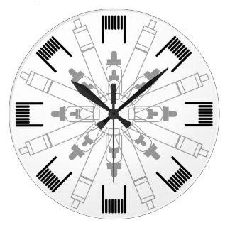 Dampfer Uhr - Mandala
