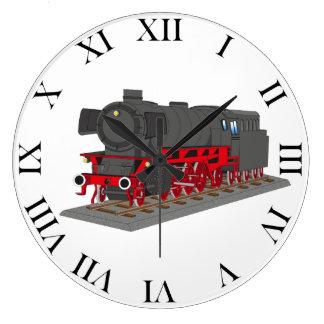 Dampflokomotive Große Wanduhr