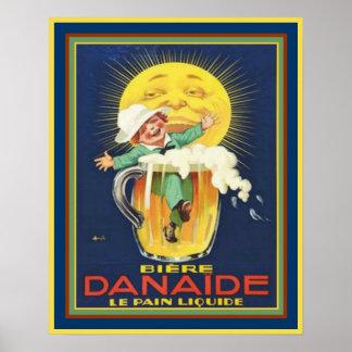 Danaide - Vintage französische Bier-Anzeige 16x20 Poster