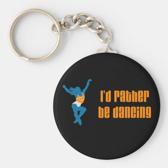 DanceChick eher Standard Runder Schlüsselanhänger