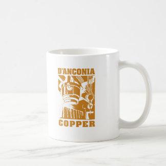 d'Anconia Kupfer/kupfernes Logo Kaffeetasse