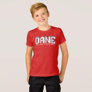 Dänejungen Name und Bedeutungspixeltext T-Shirt
