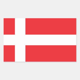 DÄNEMARK-FLAGGE DANNEBROG RECHTECKIGER AUFKLEBER