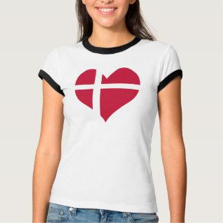 Dänemark-Flaggen-Herz T-Shirt