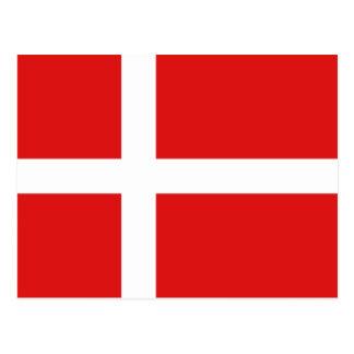 Dänemark-Flaggen-Postkarte Postkarte
