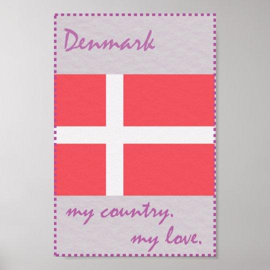Dänemark mein Land meine Liebe Poster