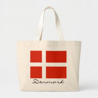 Dänemark mit Dannebrog Jumbo Stoffbeutel