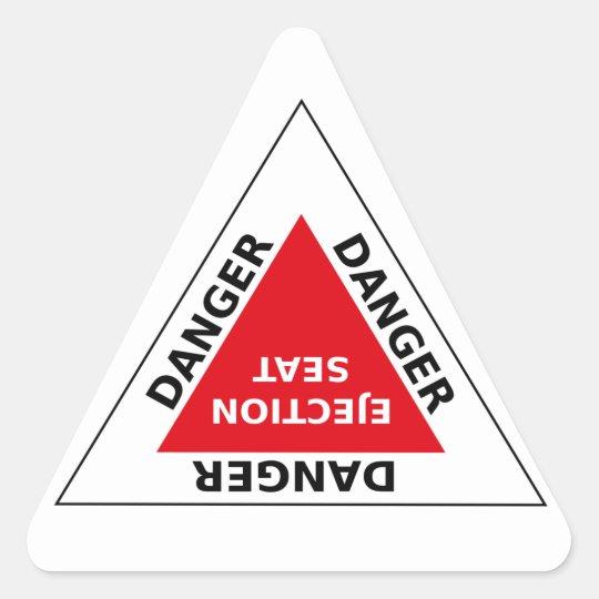 Danger - Ejection Seat Dreieckiger Aufkleber