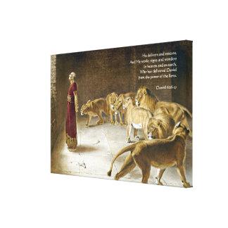 Daniel in der die Höhlen-Bibel-Kunst-Schrift des Leinwanddruck