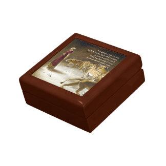 Daniel in der die Höhlen-Bibel-Kunst-Schrift des Schmuckschachtel