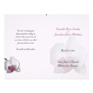 Danielle Hochzeits-Programm Flyer