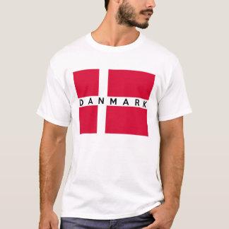 dänischer Textname des Dänemark danmark T-Shirt
