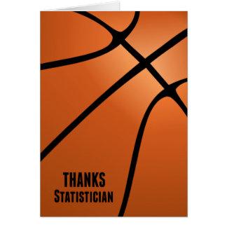 Dank-Basketball-Statistiker für Ihre harte Arbeit Karte