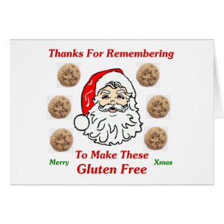 Dank, damit Remebering diese Gluten frei macht Mitteilungskarte