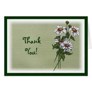 Dank, danke: Gänseblümchen auf Grün: Ursprüngliche Karte