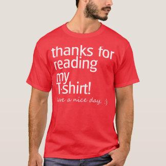 """""""Dank für das Ablesen"""" des Shirts (weißer Text)"""