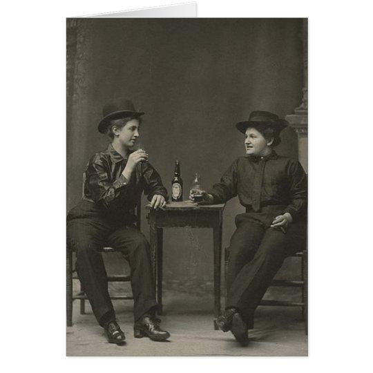 Dank für die Getränk Gruß-Karten-Lesbe Karte