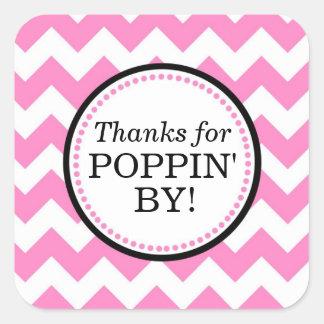 Dank für Poppin durch den quadratischen Aufkleber