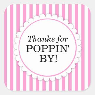 Dank für Poppin durch quadratischen Aufkleber -