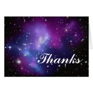 Dank-lila Galaxie-Gruppe Karte
