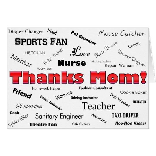 Dank-Mamma! Karte