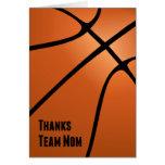 Dank-Team-Mamma, Basketball, dem Team helfend Grußkarten