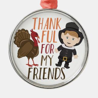 Dankbar für Freunde Silbernes Ornament