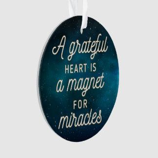 Dankbarer Herz-Magnet für Verzierung der Wunder-| Ornament