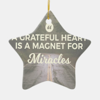 Dankbarer Herz-Wunder-Magnet Keramik Ornament