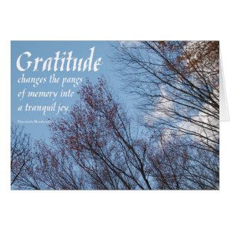 Dankbarkeit Bonhoeffer Zitat sobercards.com Grußkarte