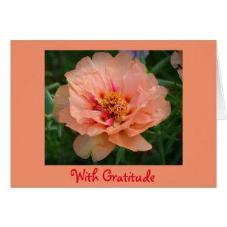 Dankbarkeit danken Ihnen zu kardieren Grußkarte